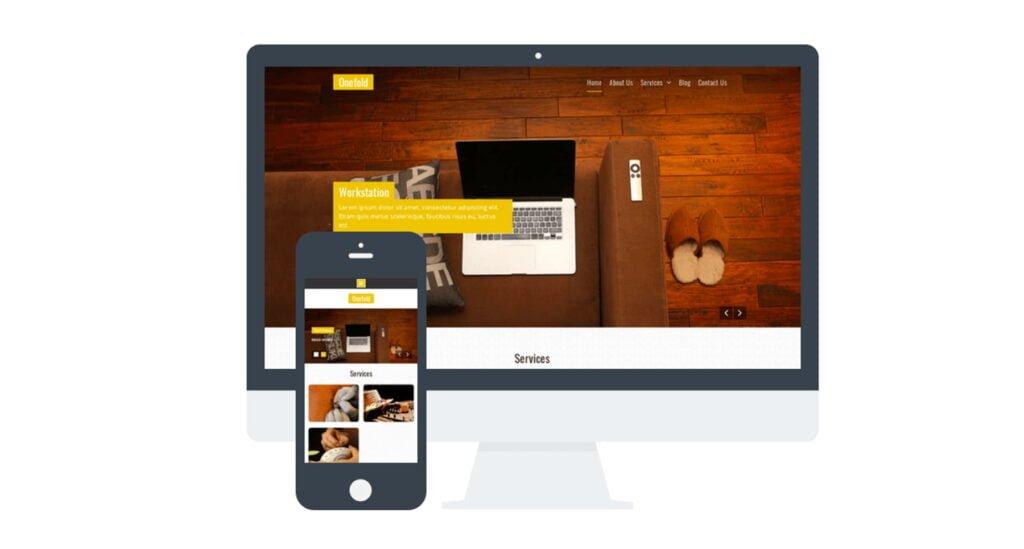 Onefold – Servicios Responsive theme WordPress