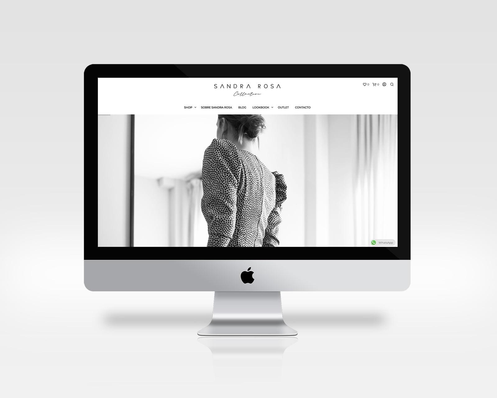 sandrarosa portada diseño web cantabria
